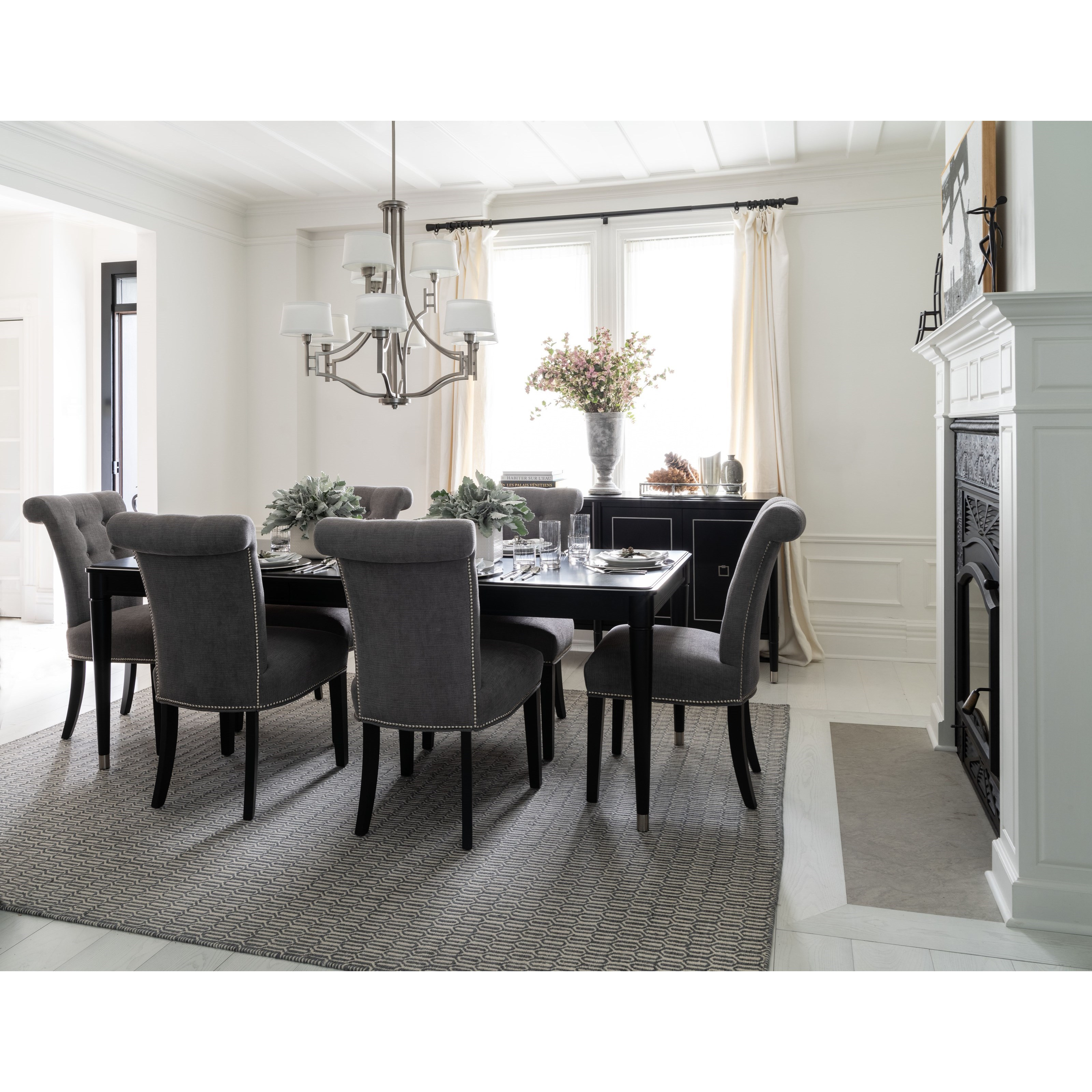 Classic Dining Room Group by Canadel at Jordan's Home Furnishings