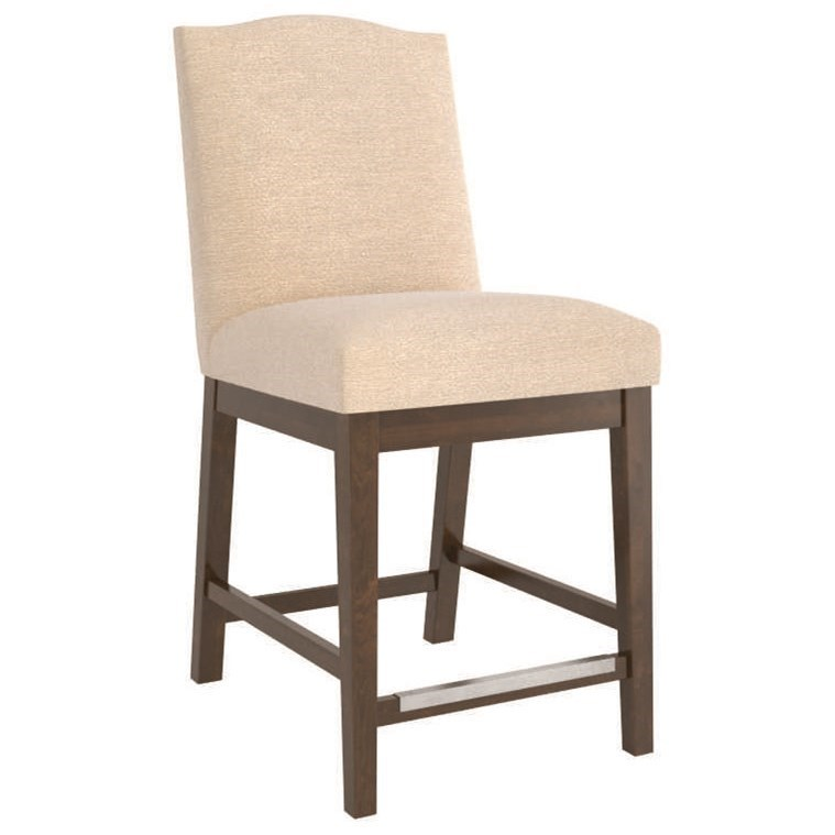 Classic Customizable Upholstered Counter Stool by Canadel at Stuckey Furniture
