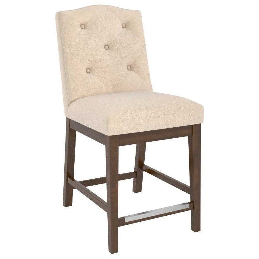 Classic Customizable Upholstered Counter Stool by Canadel at Becker Furniture