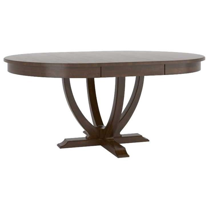 Classic Customizable Oval Dining Table by Canadel at Dinette Depot