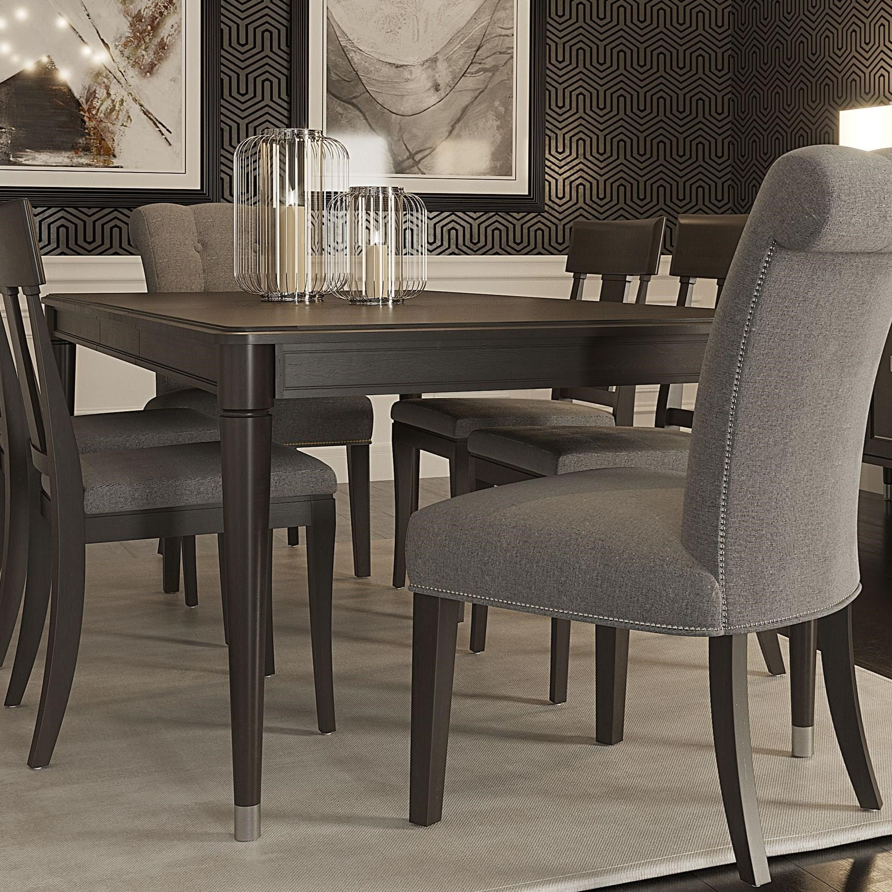 Classic Customizable Rectangular Dining Table by Canadel at Dinette Depot