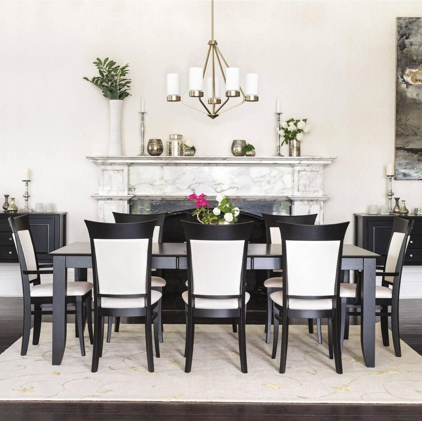 Classic 9-Piece Rect. Dining Table Set by Canadel at Dinette Depot