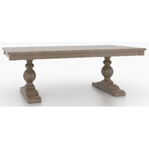 Customizable Rectangular Dining Table with Double Pedestals