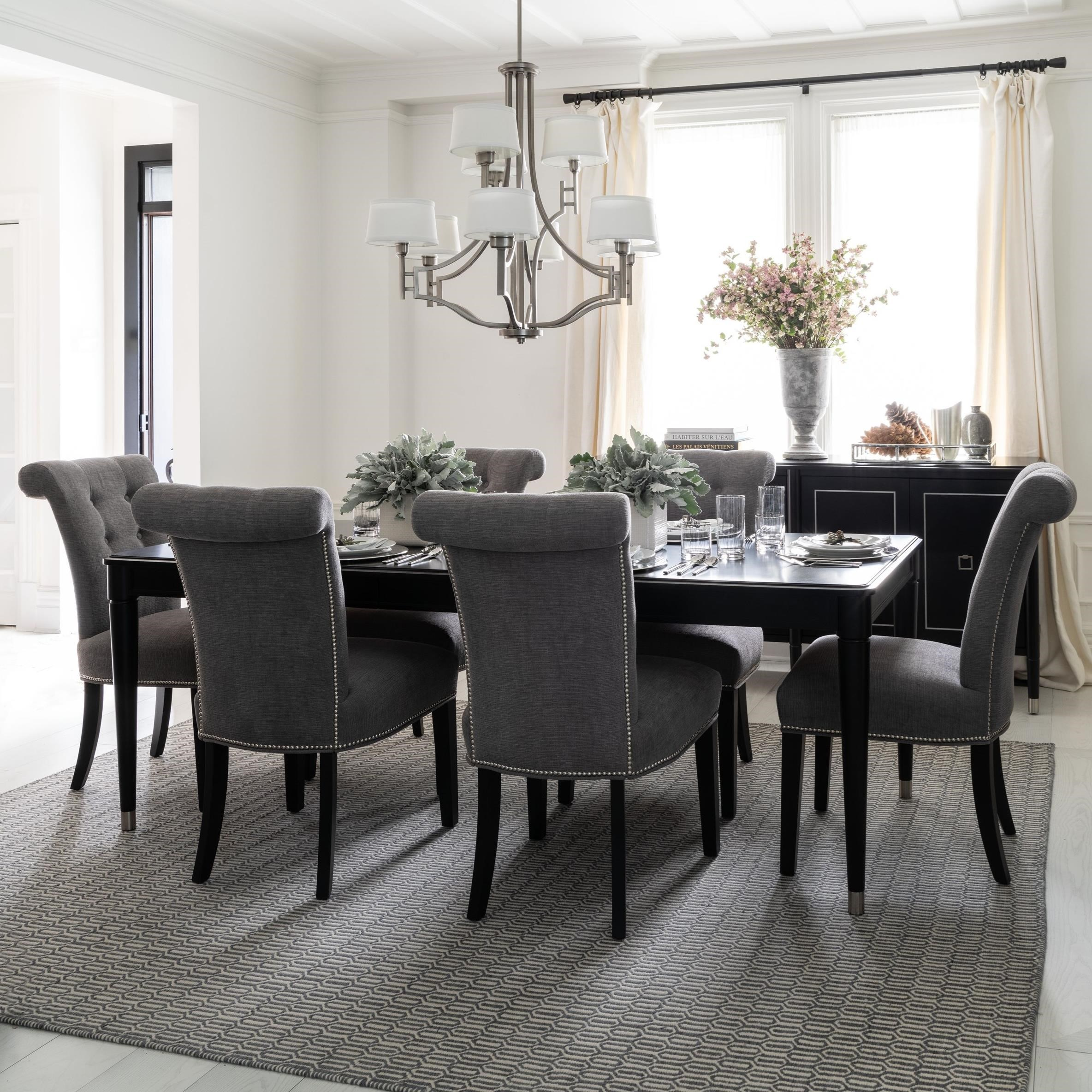 Classic Rectangular Dining Table Set by Canadel at Dinette Depot