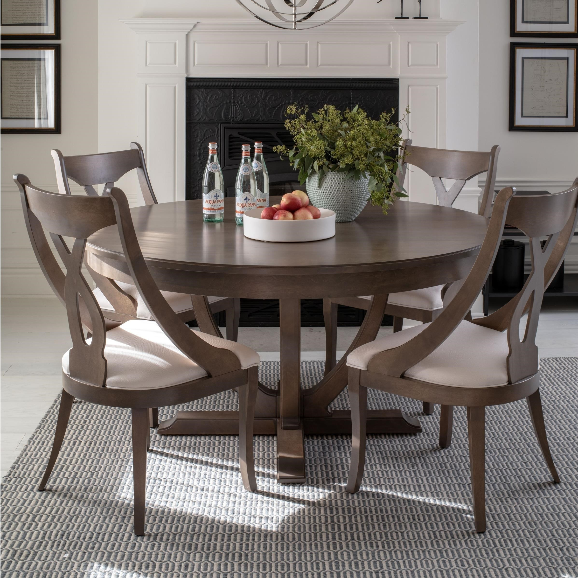 Classic Round Dining Table Set by Canadel at Dinette Depot