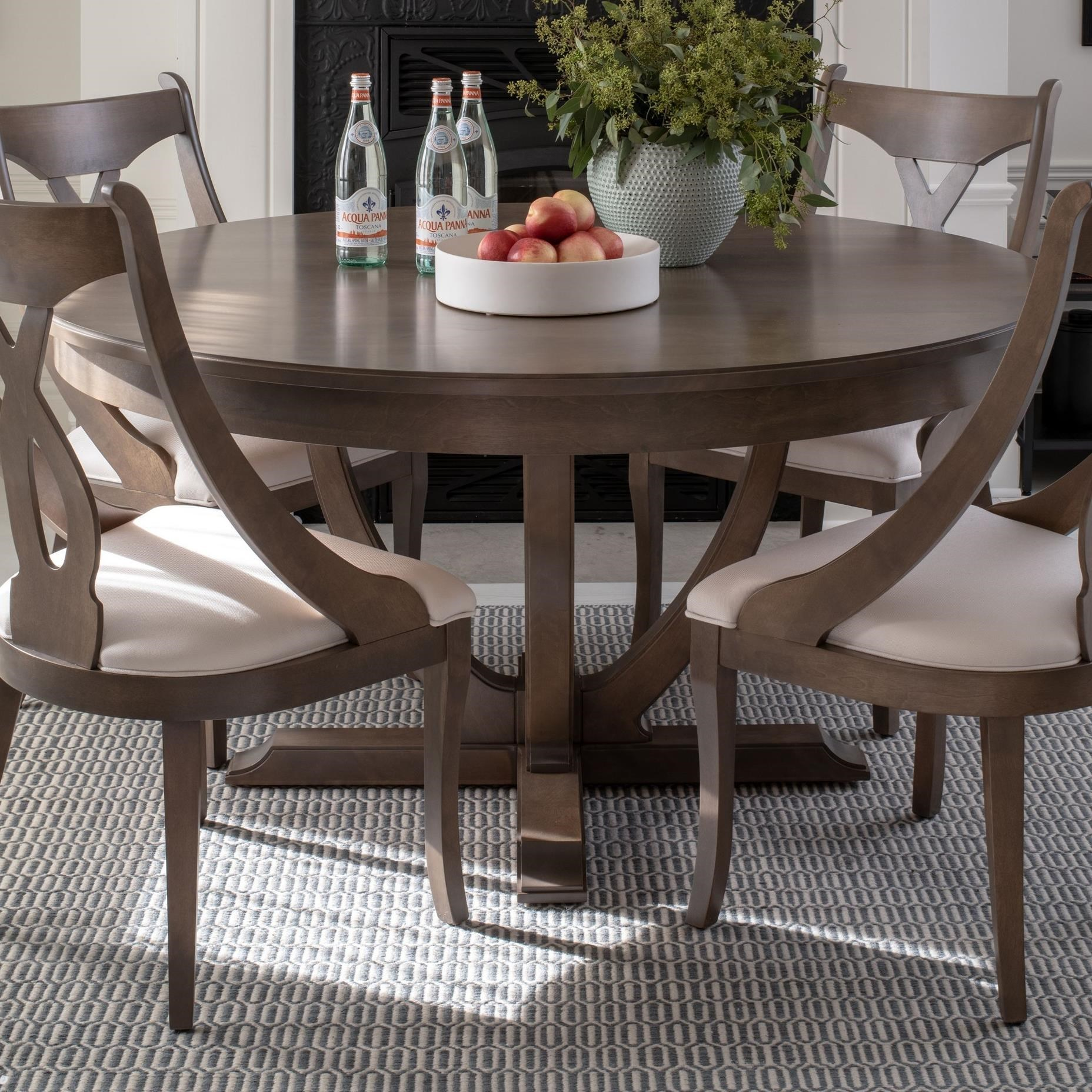 Classic Customizable Round Dining Table by Canadel at Dinette Depot