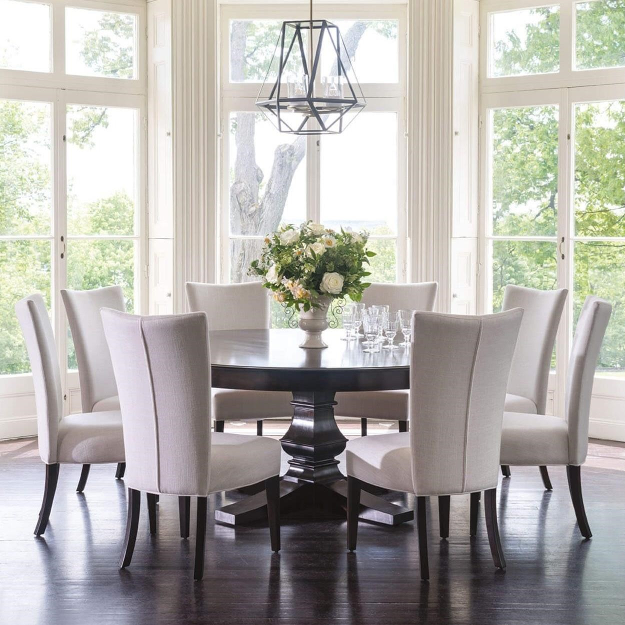 """Classic 9-Piece 72"""" Round Dining Table Set by Canadel at Dinette Depot"""
