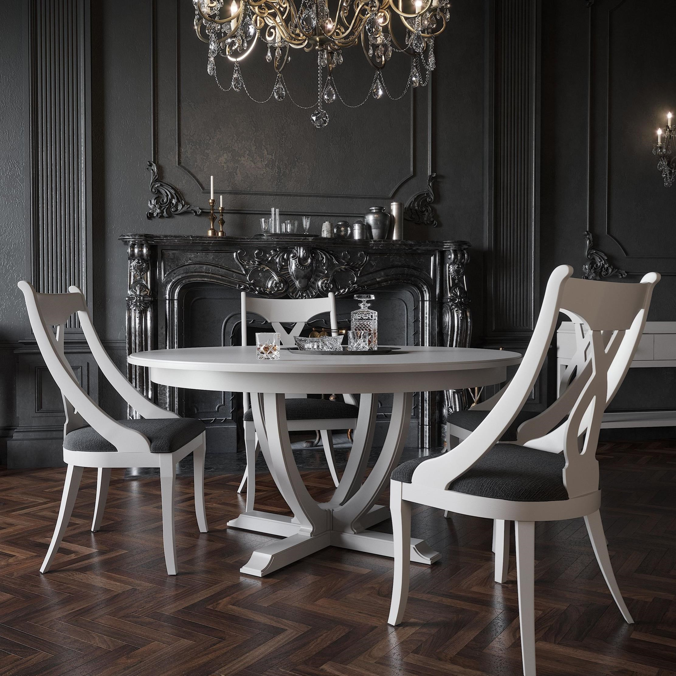 Classic Round Dining Table Set by Canadel at Jordan's Home Furnishings