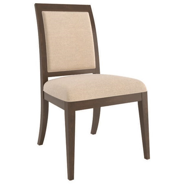 Contemporary Customizable Upholstered Side Chair by Canadel at Steger's Furniture