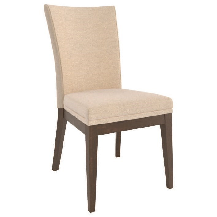 Contemporary Customizable Upholstered Side Chair by Canadel at Dinette Depot