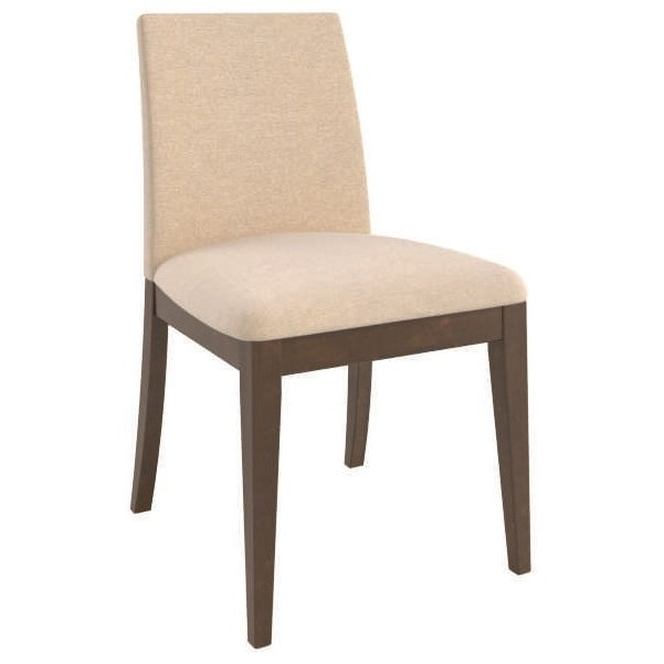Contemporary Customizable Upholstered Side Chair by Canadel at Jordan's Home Furnishings