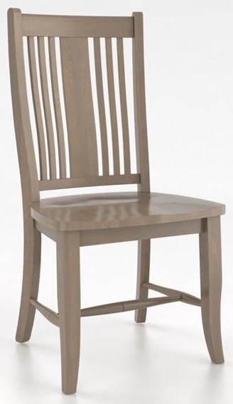 Core Core Side Chair- Weathered Grey Washed by Canadel at Sprintz Furniture
