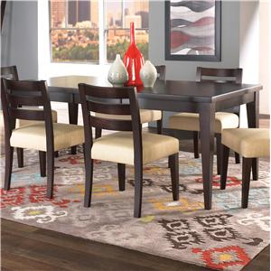 Customizable Rectangular Table with Thick Top and Legs