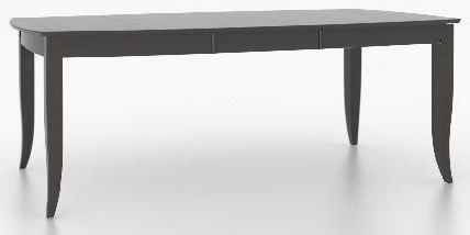 Custom Dining Boat Shape Table by Canadel at Johnny Janosik