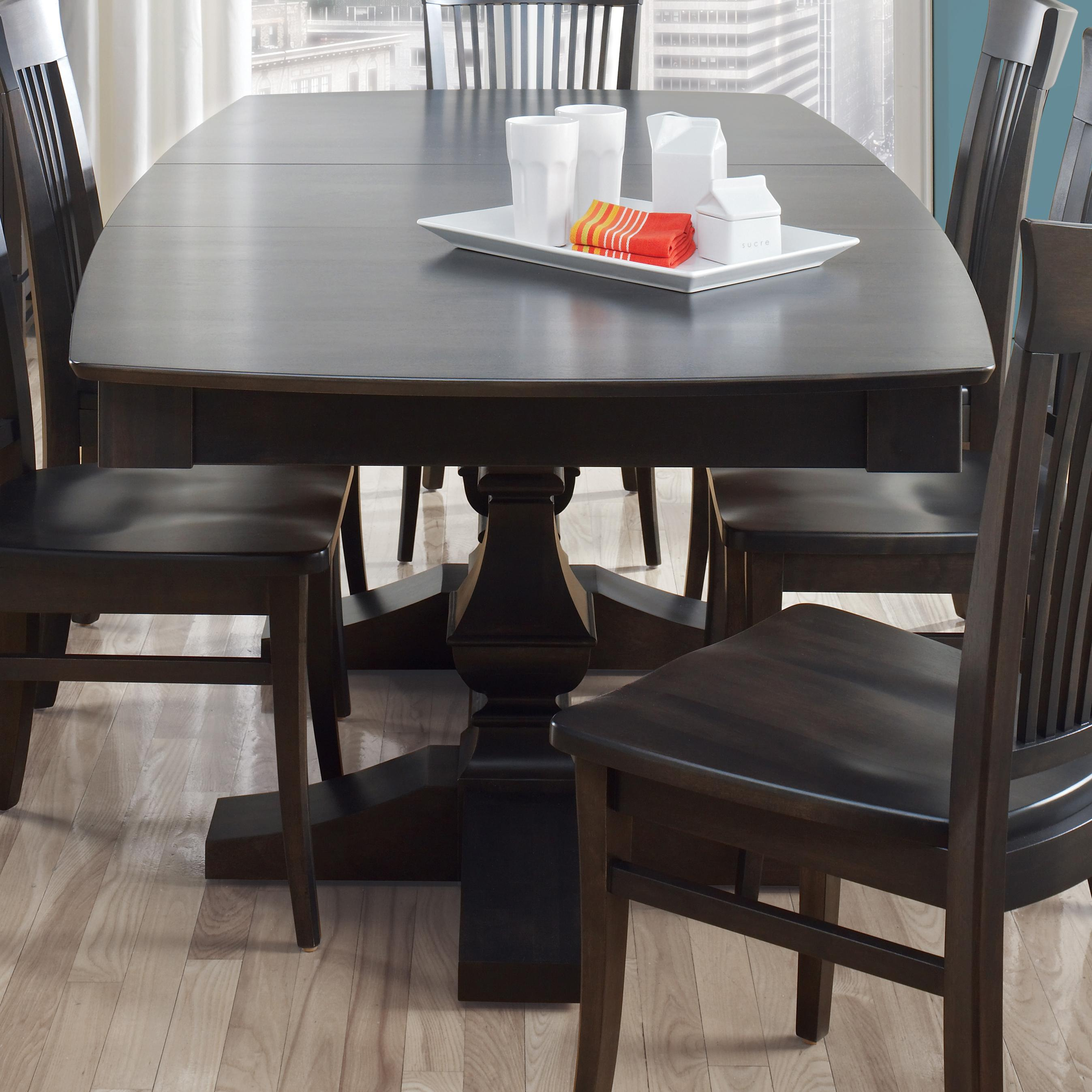 Custom Dining Customizable Boat Shape Table by Canadel at Dinette Depot