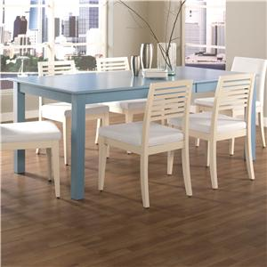 Customizable Rectangular Table with Leaf