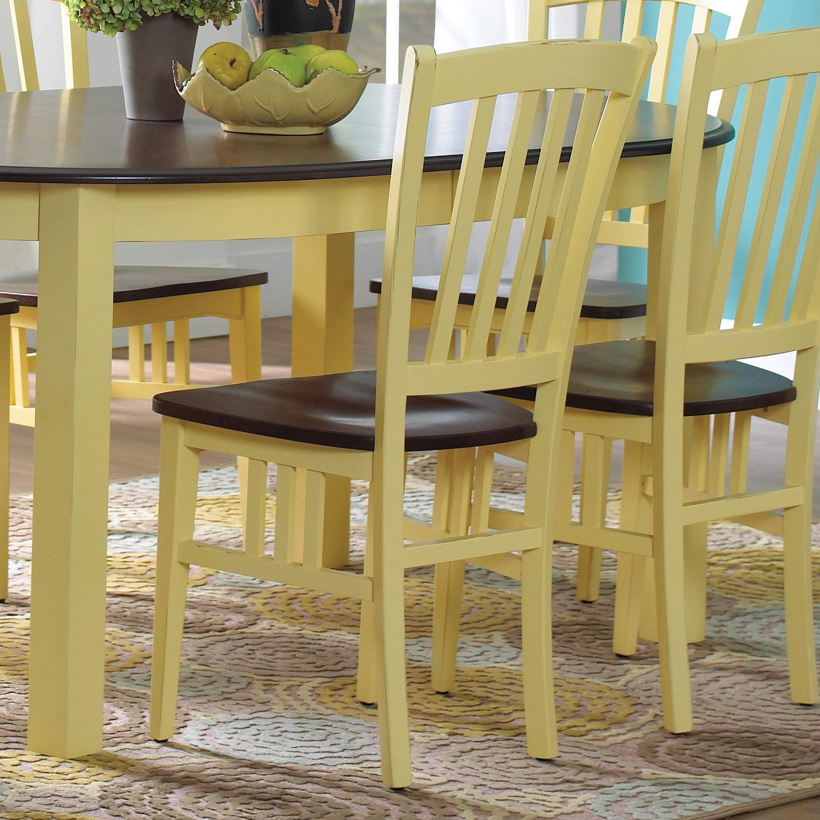 Custom Dining Customizable Side Chair by Canadel at Saugerties Furniture Mart