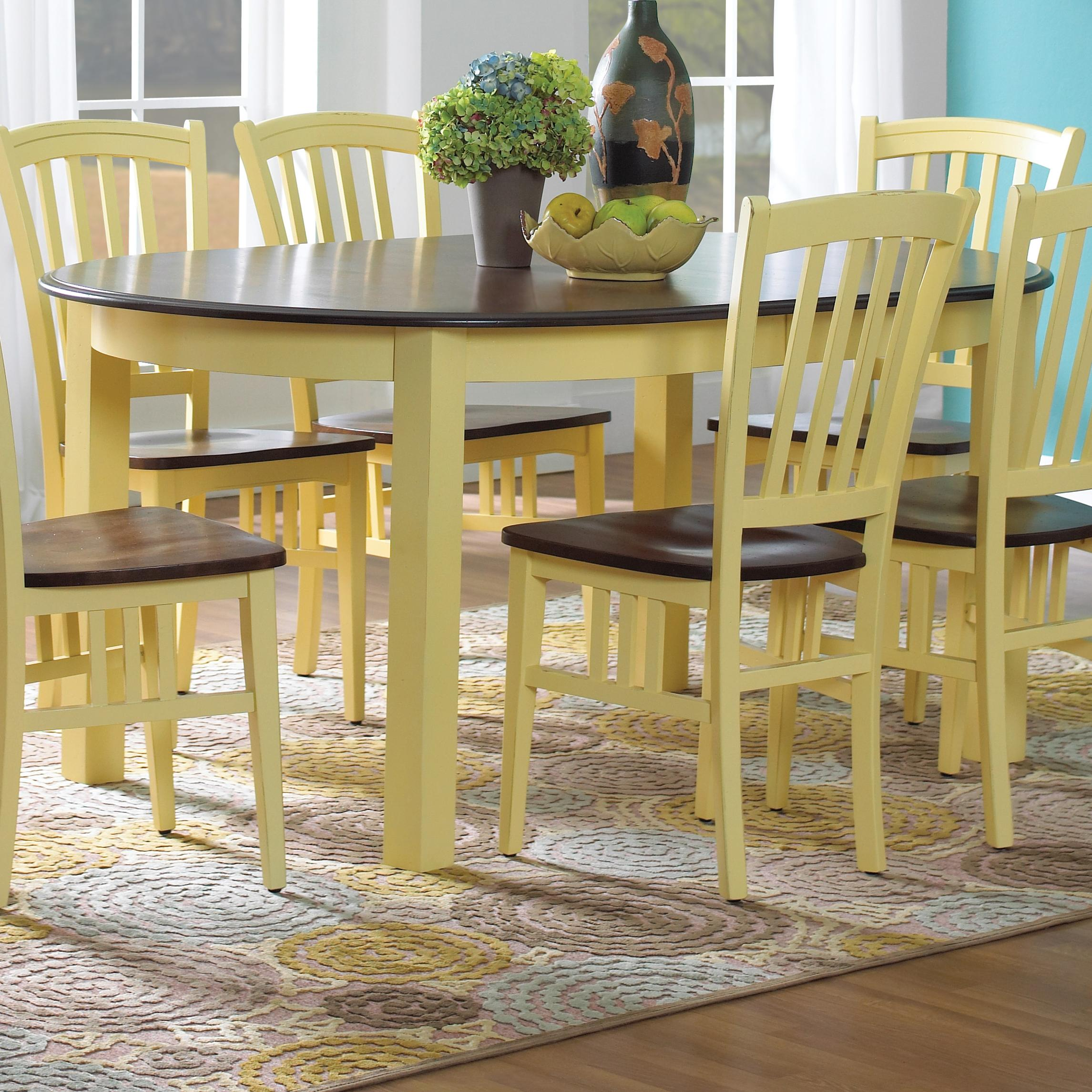 Custom Dining Customizable Oval Table with Legs by Canadel at Dinette Depot