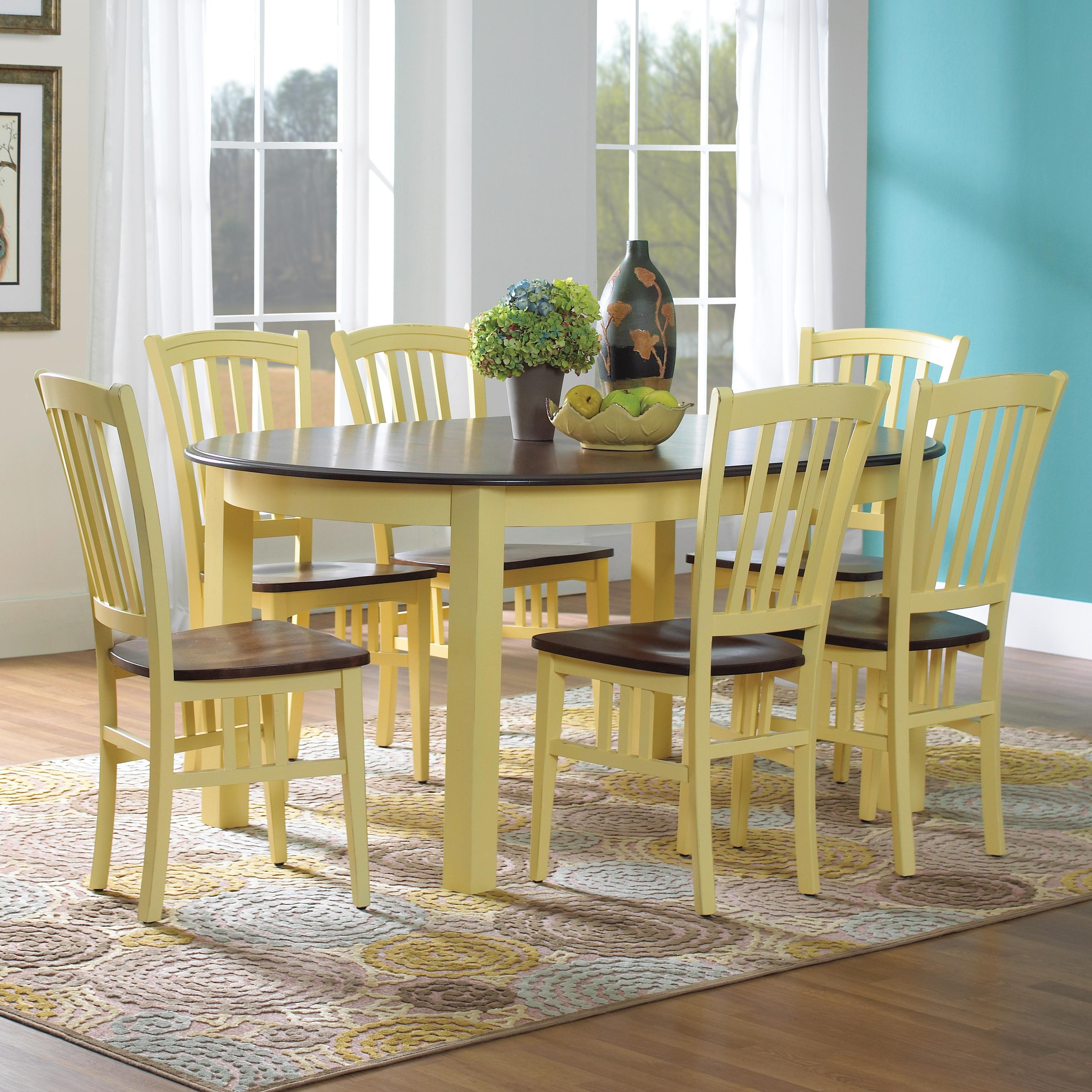Custom Dining Customizable Oval Table Set by Canadel at Dinette Depot