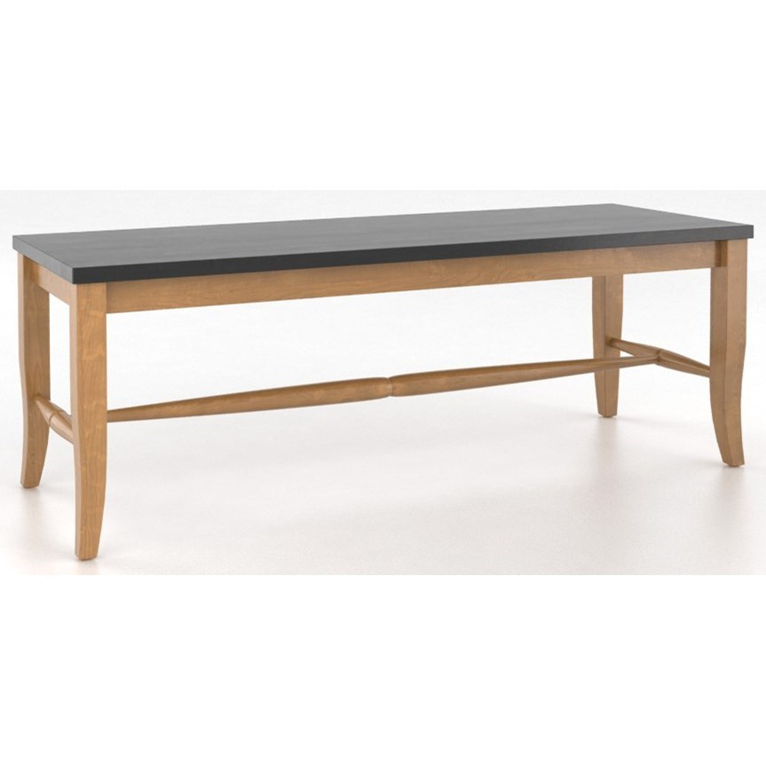 """Custom Dining <b>Customizable</b> Wooden Seat Bench, 18"""" by Canadel at Saugerties Furniture Mart"""