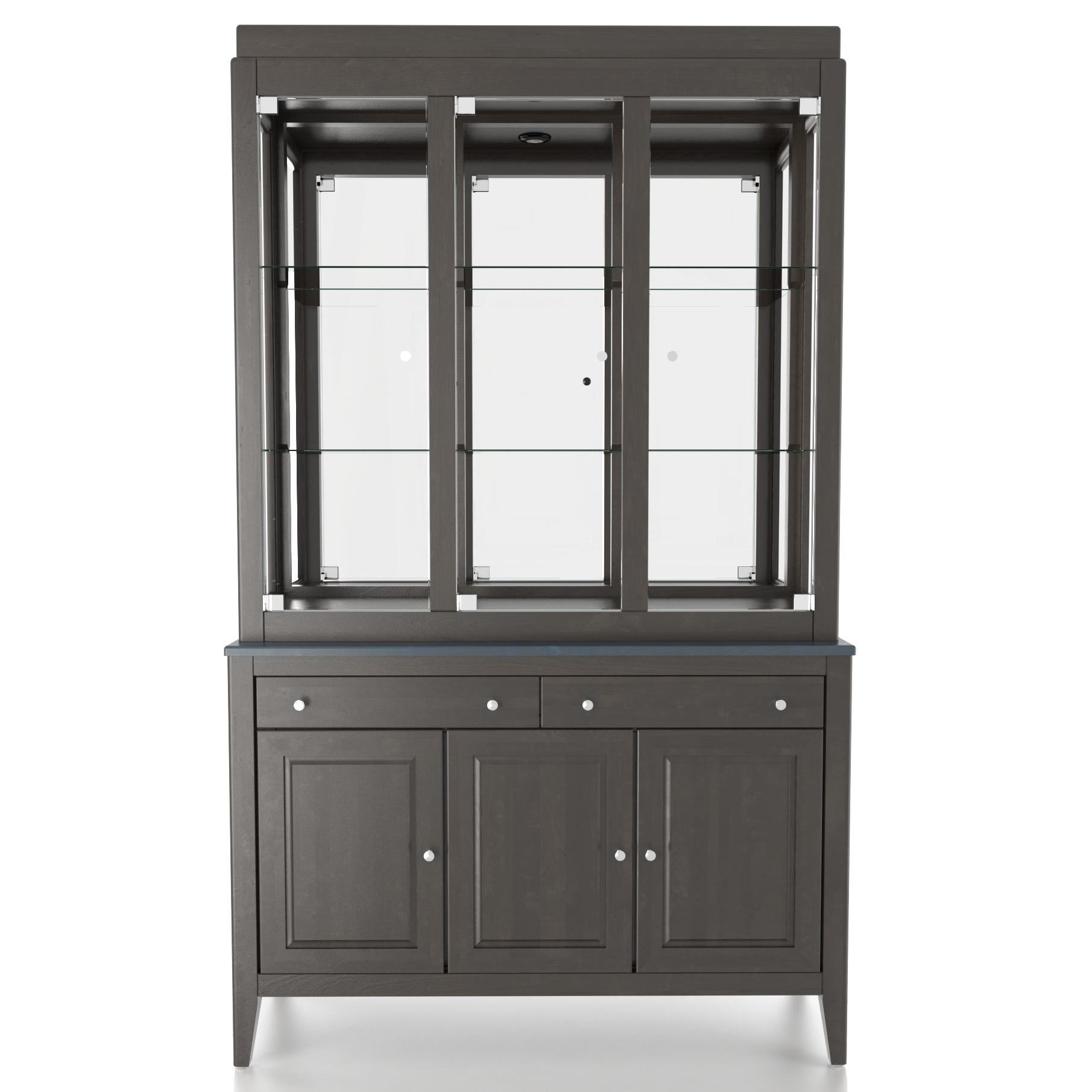 Custom Dining <b>Customizable</b> 48 Inch Buffet & Hutch by Canadel at Saugerties Furniture Mart