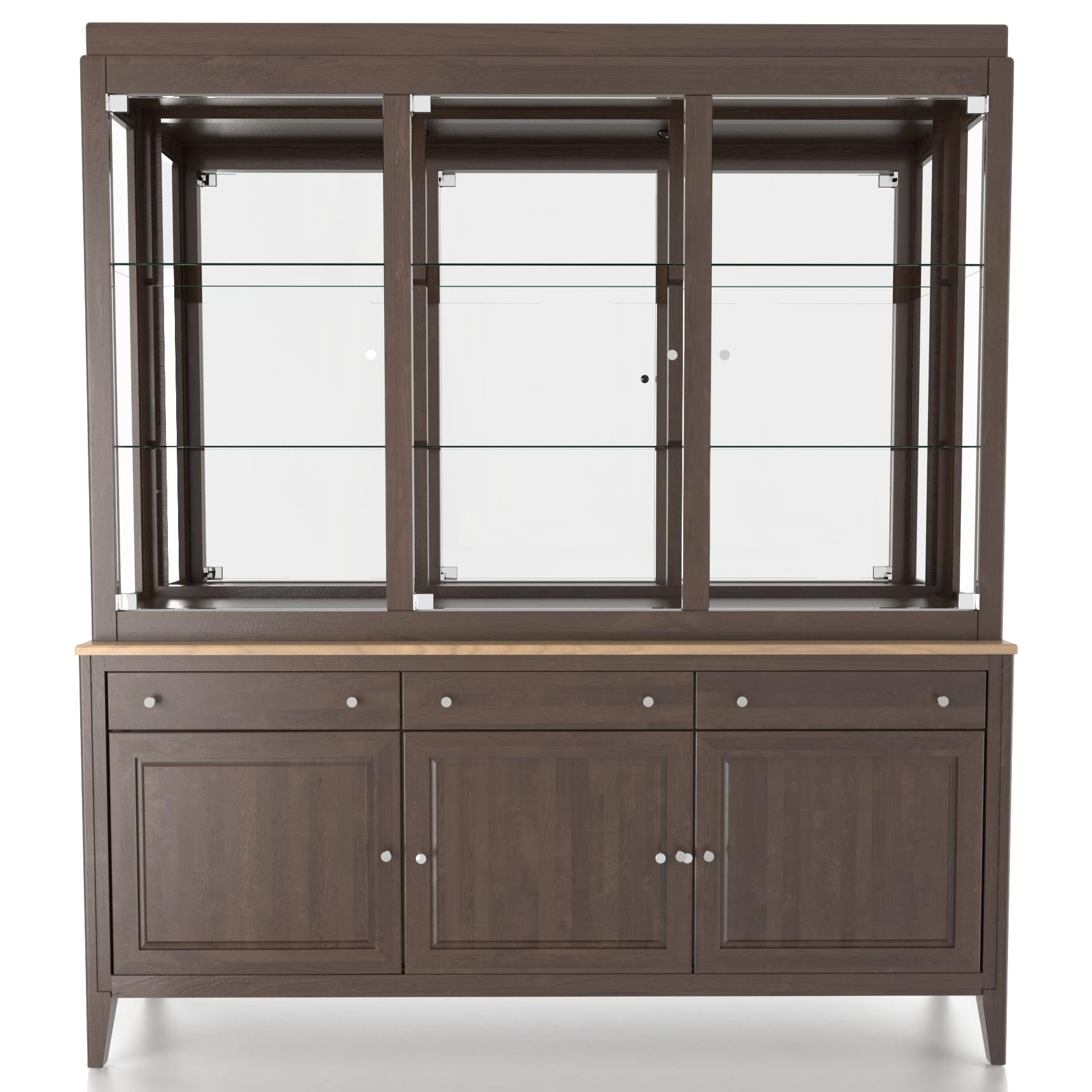 Custom Dining <b>Customizable</b> 72 Inch Buffet & Hutch by Canadel at Saugerties Furniture Mart