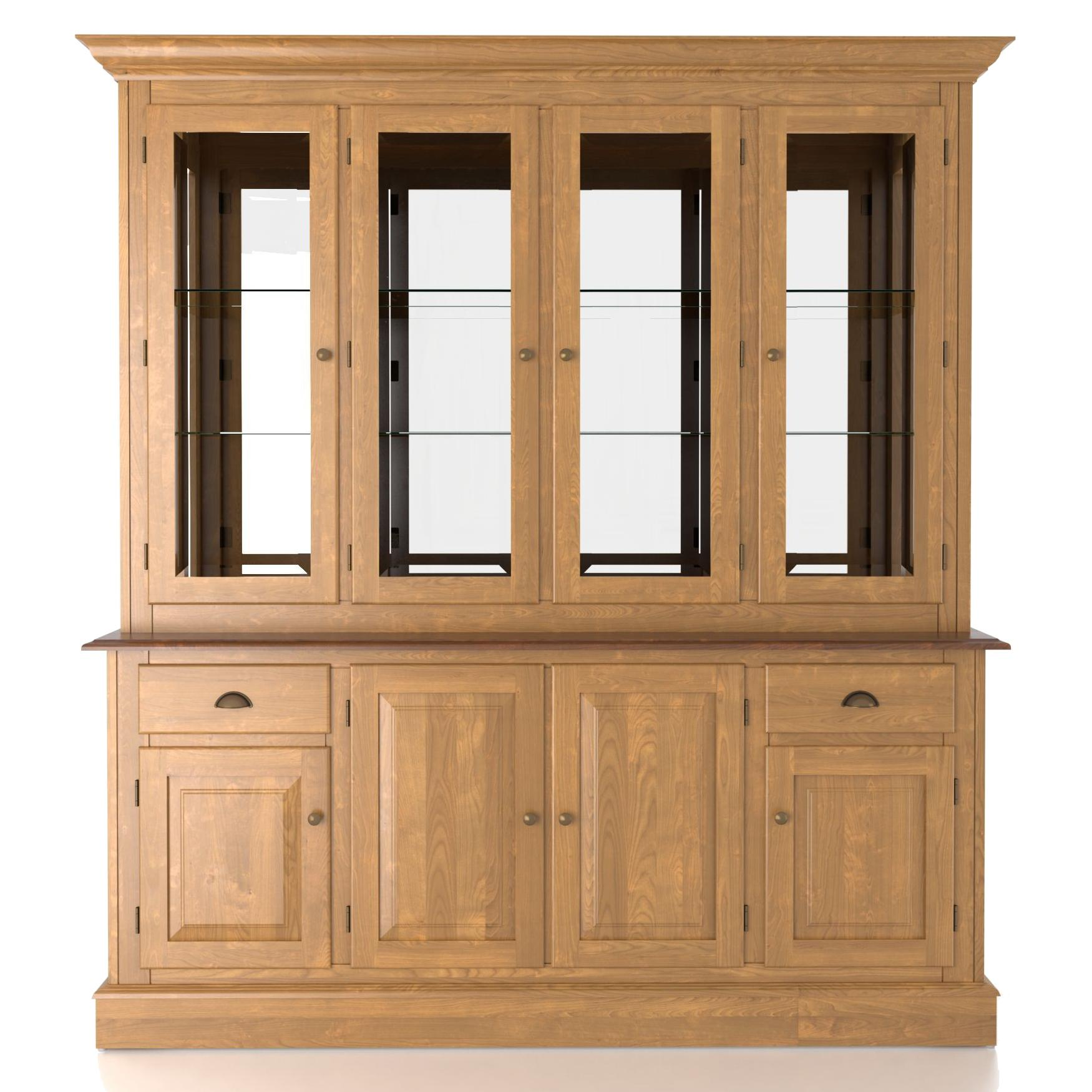 Custom Dining <b>Customizable</b> 72 Inch Hutch & Buffet by Canadel at Saugerties Furniture Mart