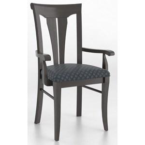 Customizable Sheaf Back Upholstered Armchair