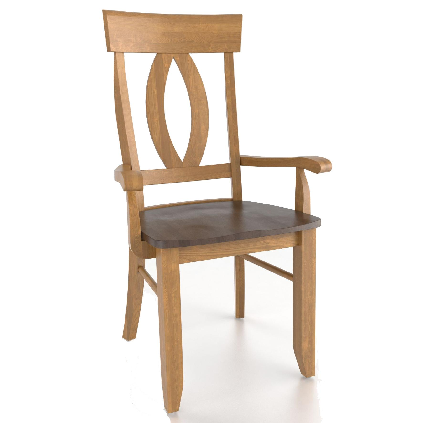 Custom Dining <b>Customizable</b> Armchair by Canadel at Saugerties Furniture Mart