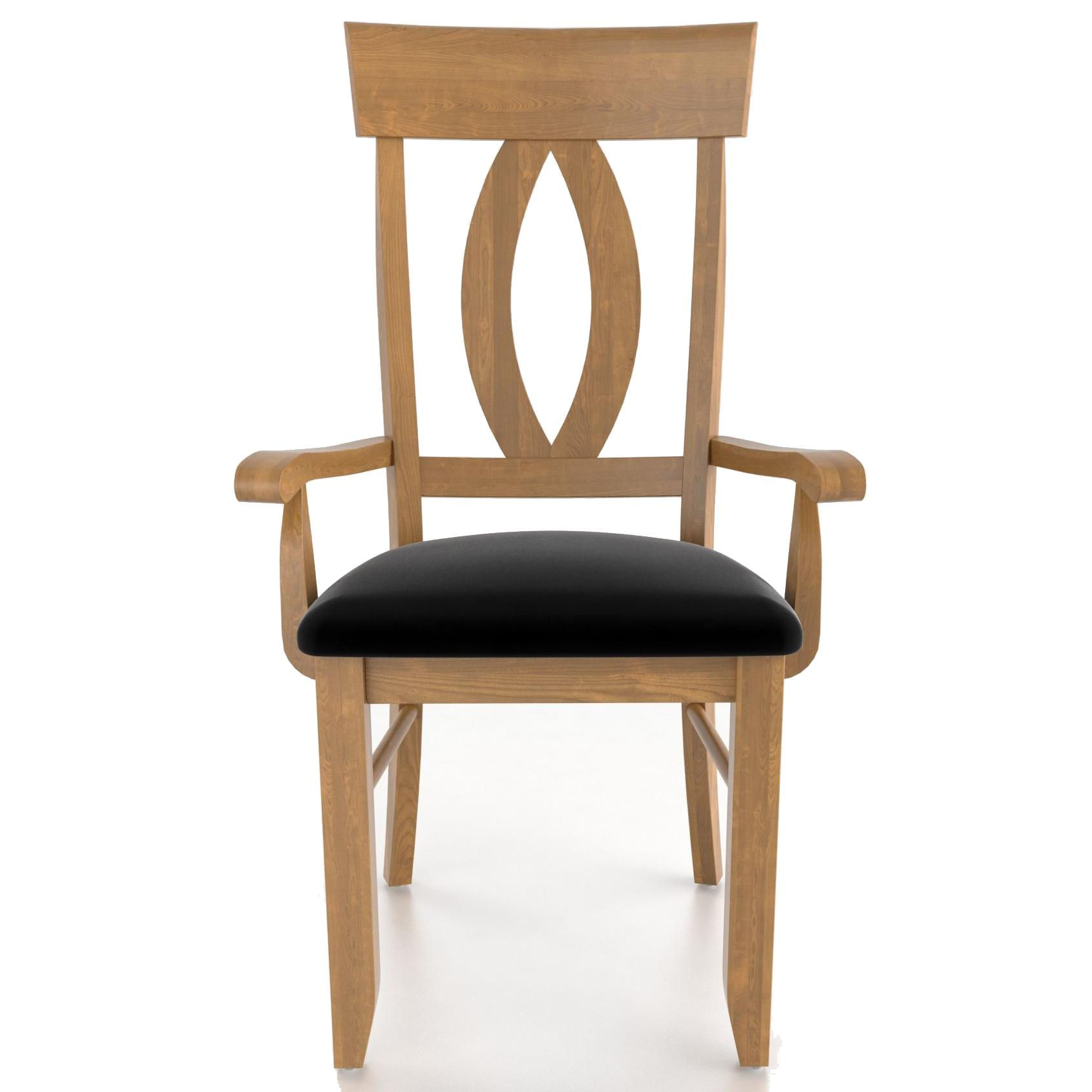 Custom Dining <b>Customizable</b> Upholstered Armchair by Canadel at Saugerties Furniture Mart
