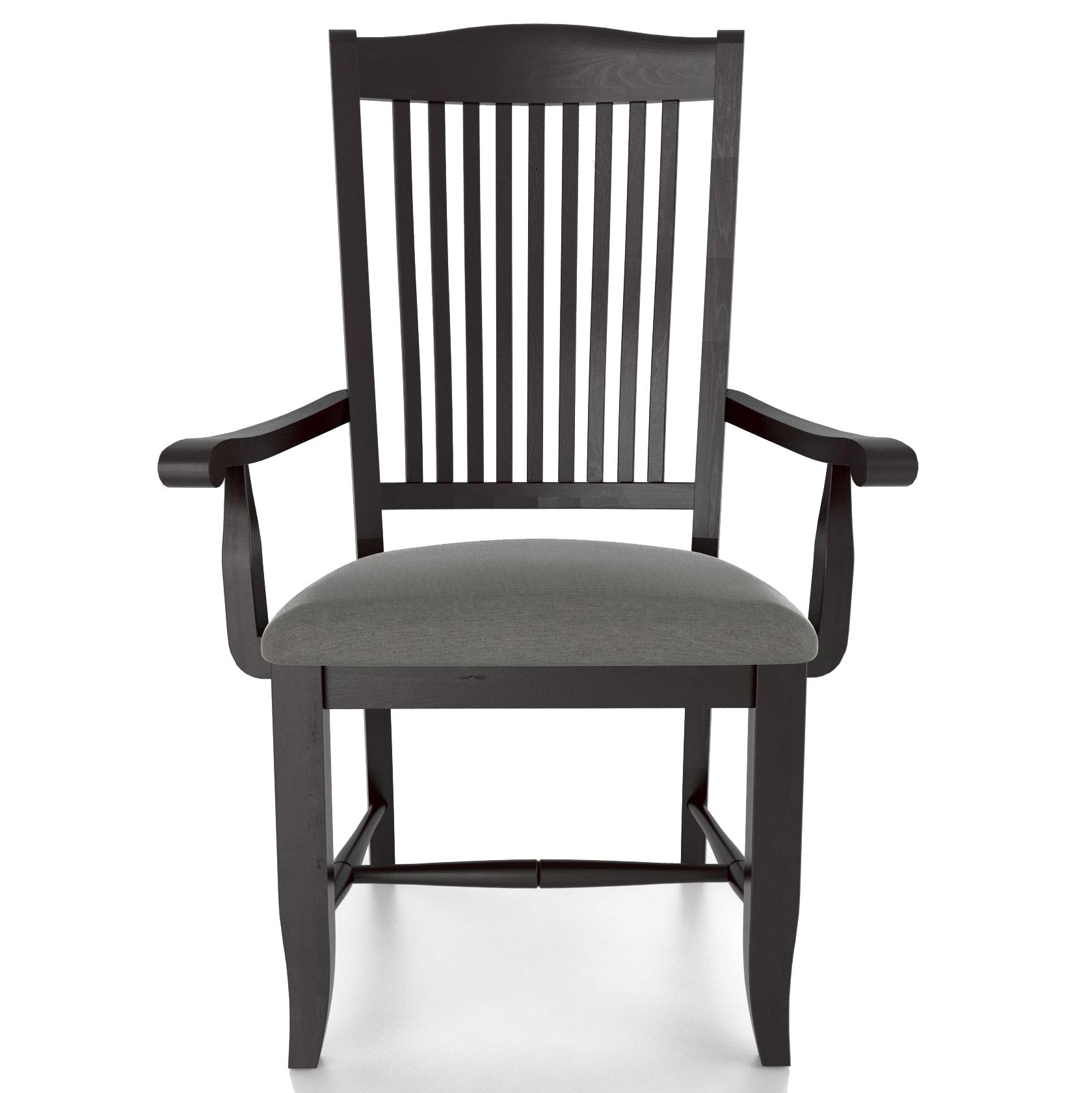 Custom Dining Customizable Upholstered Armchair by Canadel at Suburban Furniture
