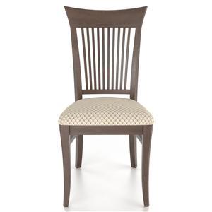 Customizable Slat Back Upholstered Side Chair