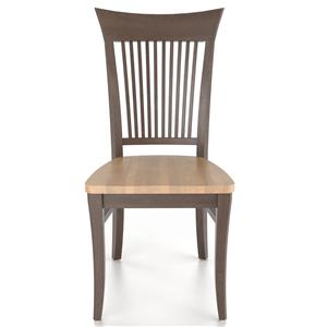 Customizable Slat Back Side Chair - Wood Seat