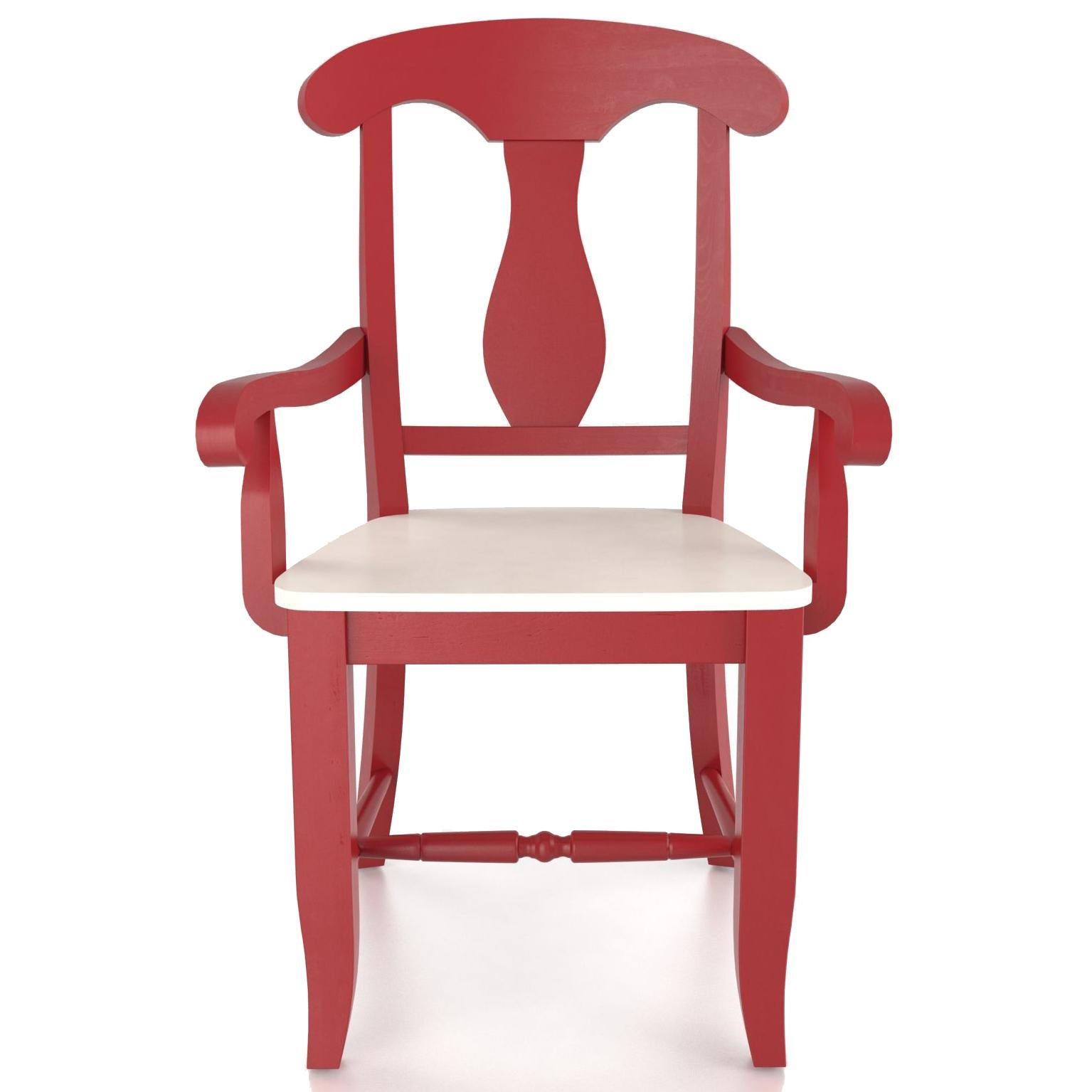 Custom Dining <b>Customizable</b> Armchair - Wood Seat by Canadel at Saugerties Furniture Mart