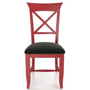 Customizable X Back Upholstered Side Chair
