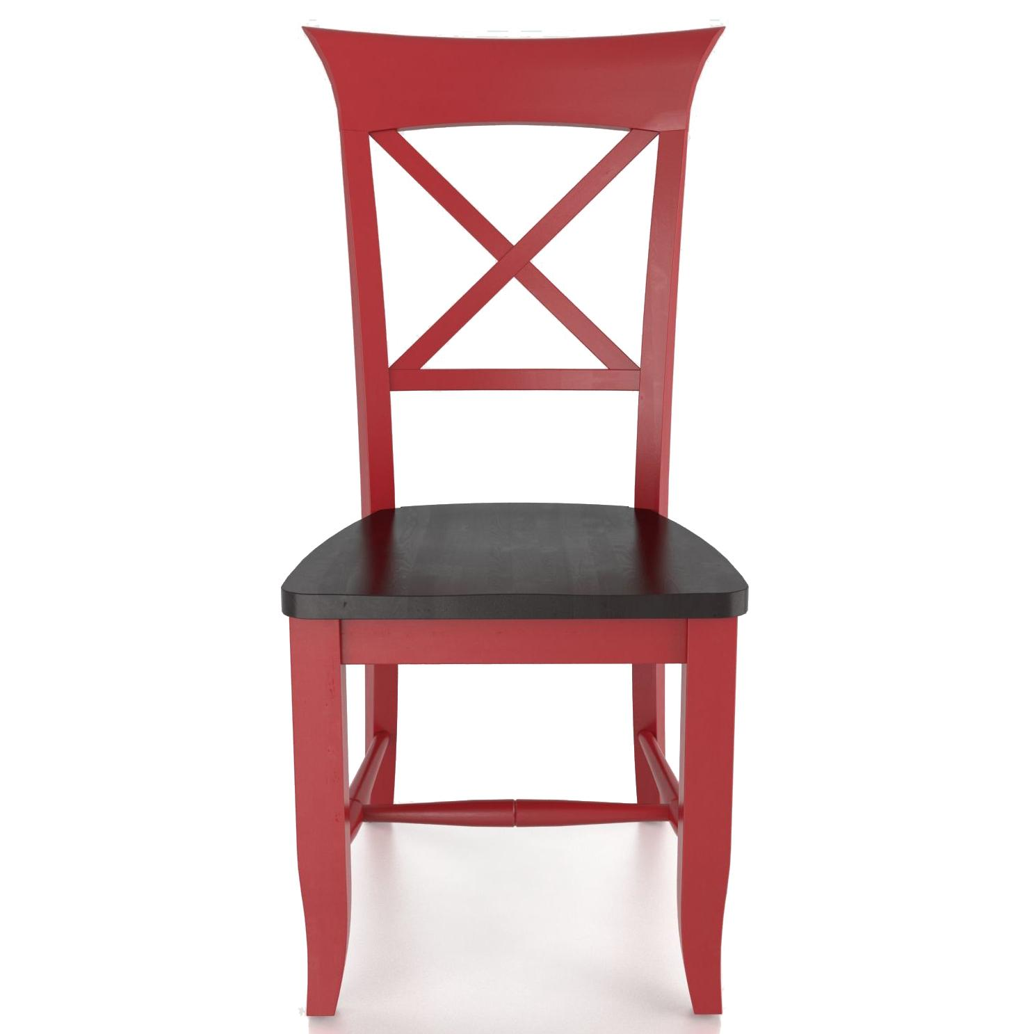 Custom Dining <b>Customizable</b> Side Chair - Wood Seat by Canadel at Saugerties Furniture Mart