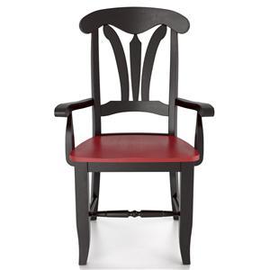 Canadel Custom Dining <b>Customizable</b> Arm Chair - Wood Seat