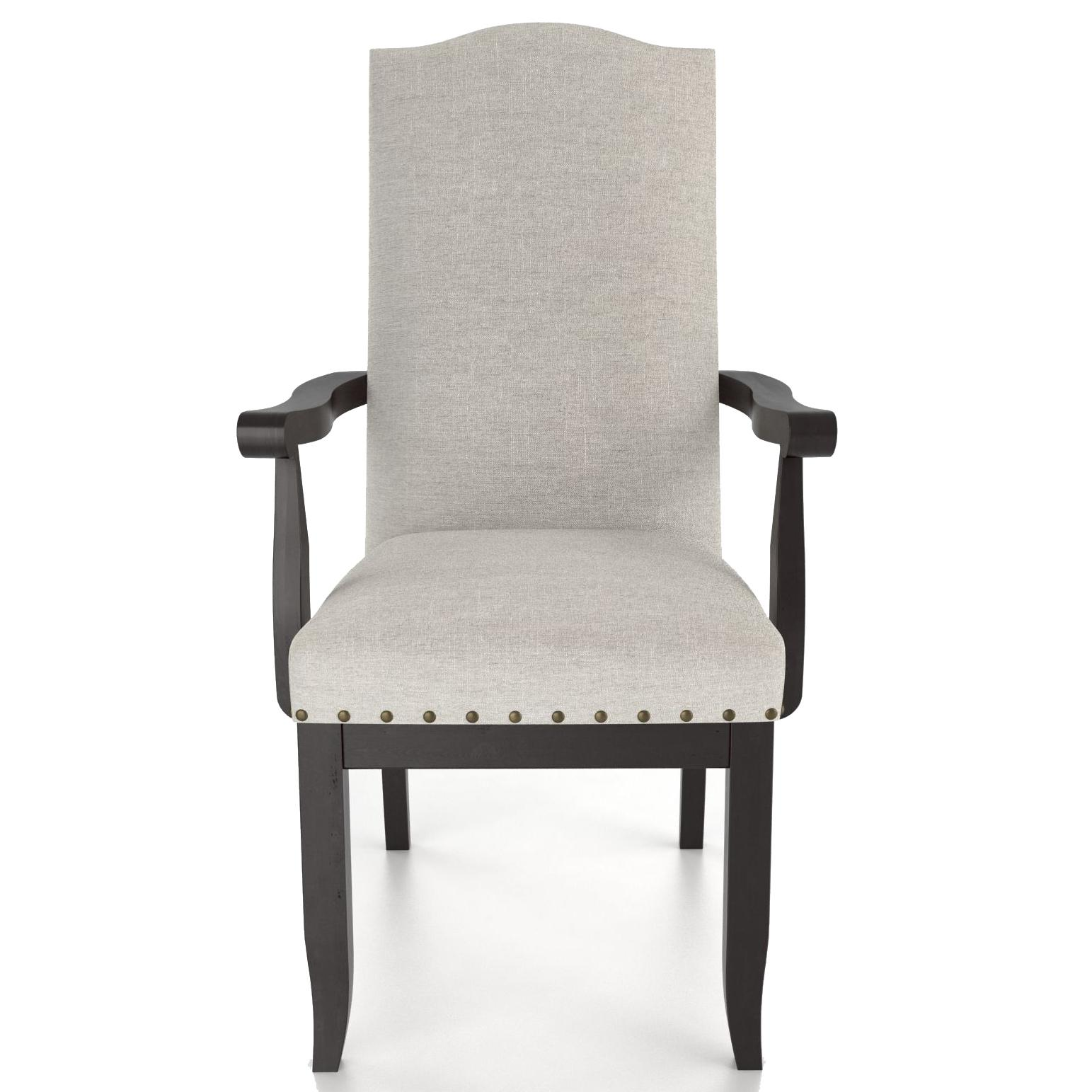 Custom Dining <b>Customizable</b> Upholstered Arm Chair by Canadel at Saugerties Furniture Mart
