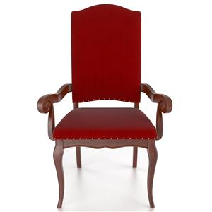 Traditional Customizable Upholstered Arm Chair
