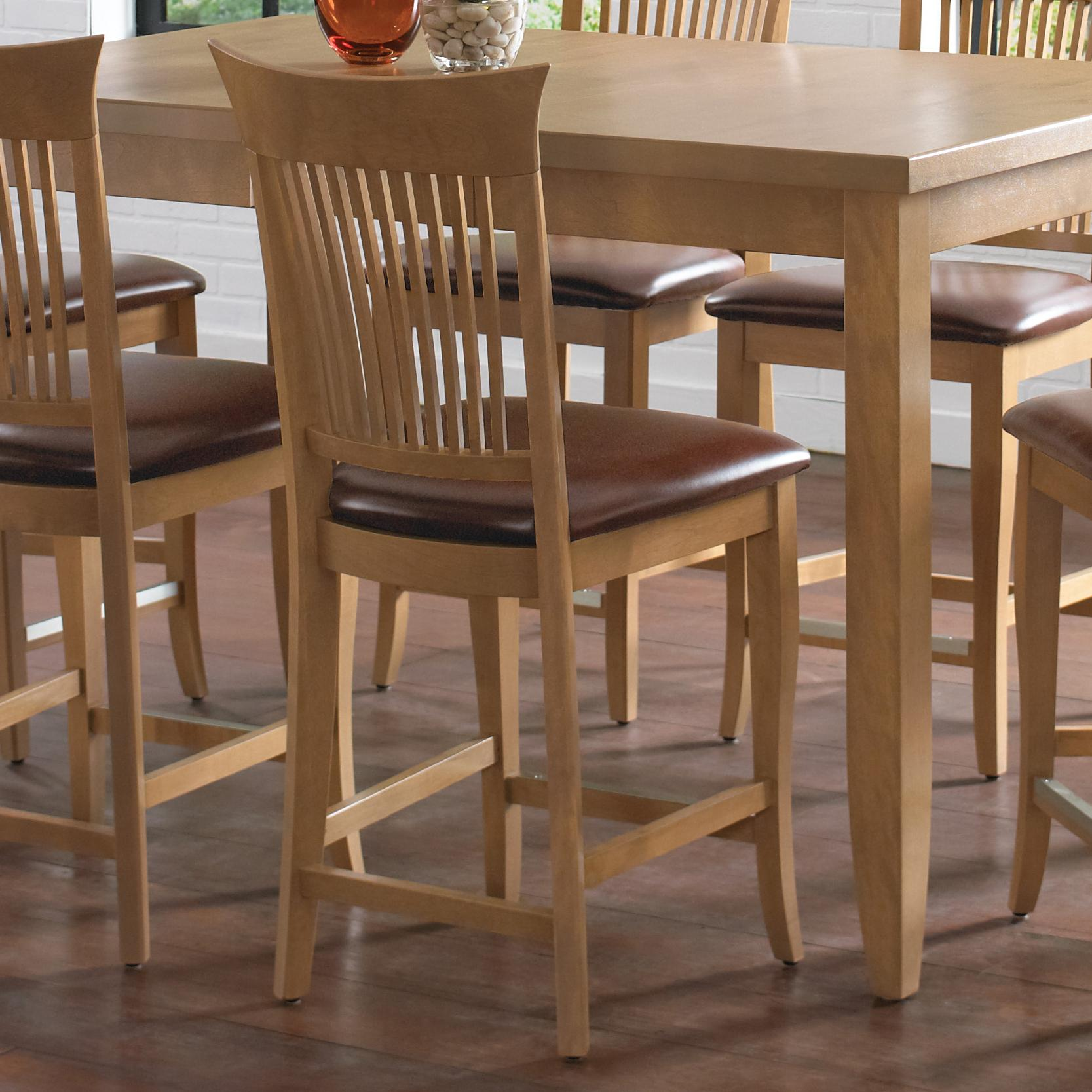 """Custom Dining - High Dining Customizable 24"""" Upholstered Fixed Stool by Canadel at Dinette Depot"""