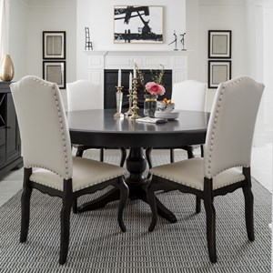 Customizable Round Table with Single Pedestal