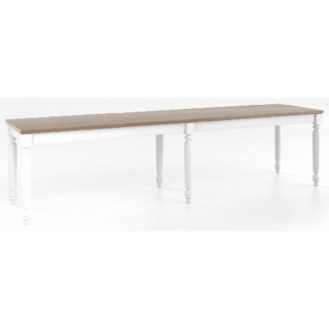 Core - Custom Dining Customizable Wood Bench by Canadel at Dinette Depot