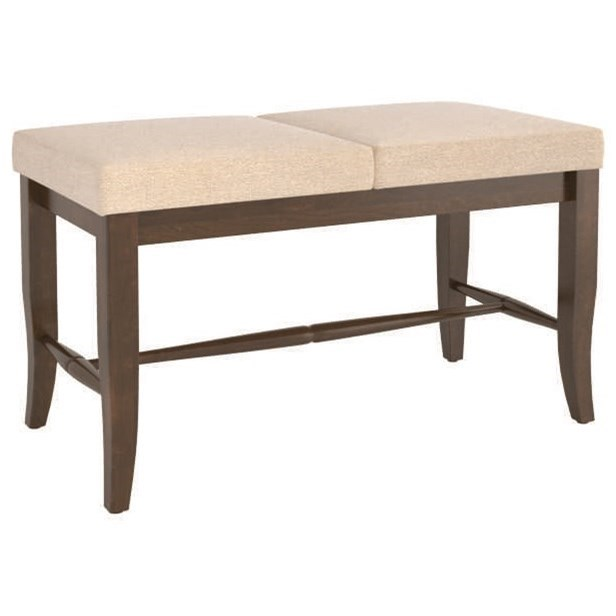Core - Custom Dining Customizable Upholstered Bench by Canadel at Dinette Depot
