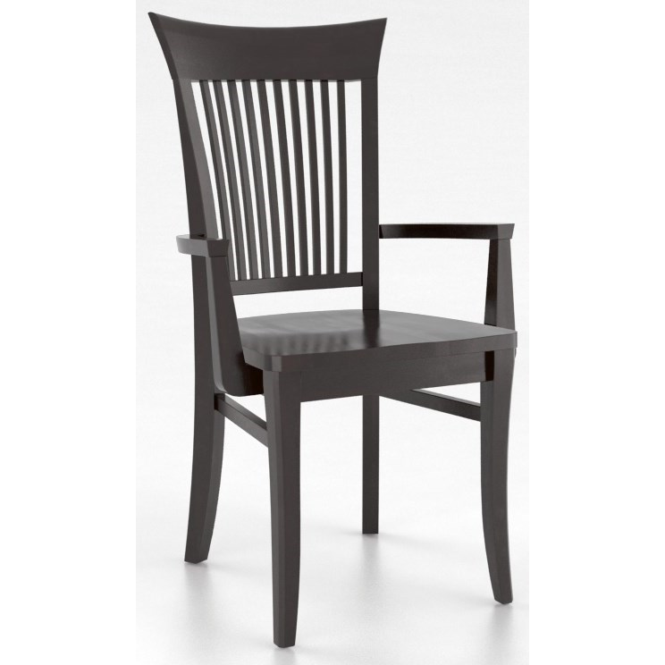 Core - Custom Dining Customizable Dining Arm Chair by Canadel at Dinette Depot
