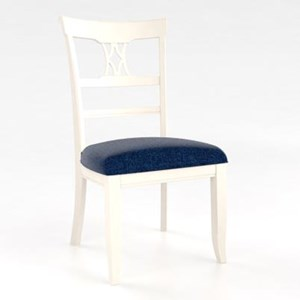 Customizable Side Chair with Upholstered Seat
