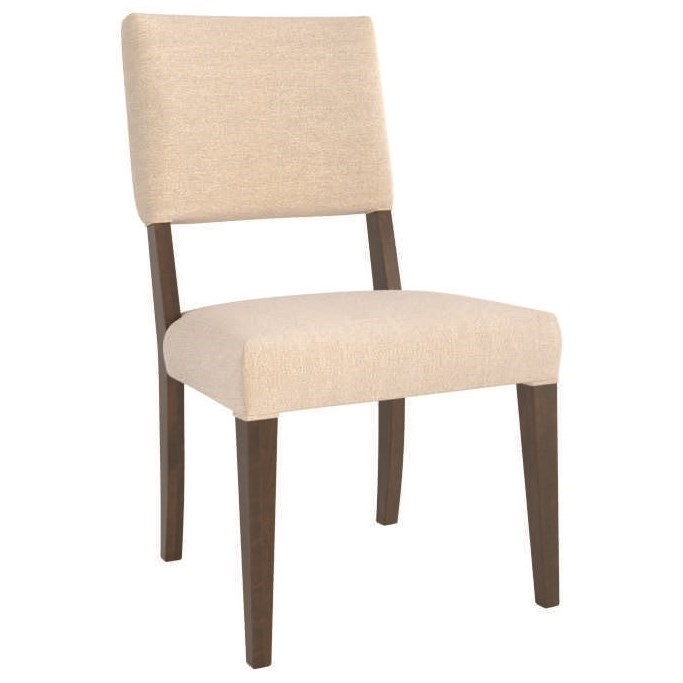 Core - Custom Dining Customizable Upholstered Side Chair by Canadel at Jordan's Home Furnishings
