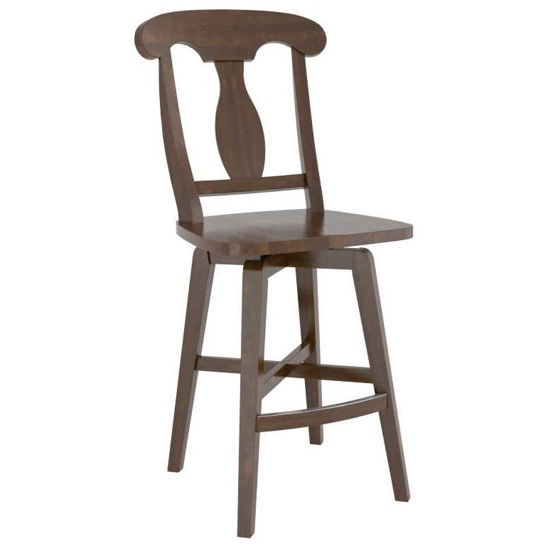 Core - Custom Dining Customizable Counter Stool by Canadel at Jordan's Home Furnishings
