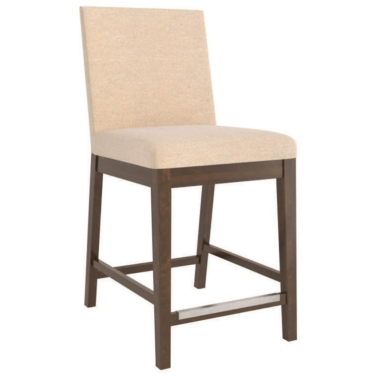 Core - Custom Dining Customizable Upholstered Counter Stool by Canadel at Suburban Furniture