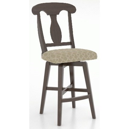 Core - Custom Dining Customizable Counter Swivel Stool by Canadel at Baer's Furniture