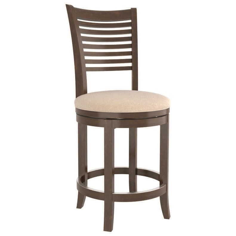 Core - Custom Dining Customizable Swivel Counter Stool by Canadel at Steger's Furniture